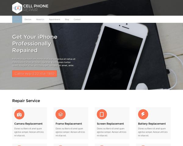 Telefoon reparatie WordPress Thema