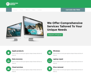 Computer reparatie WordPress Thema