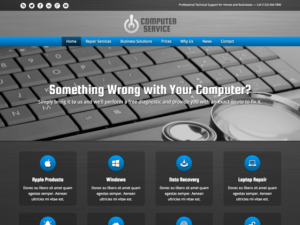 Computer service WordPress Thema