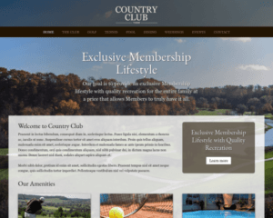 Country club WordPress Thema
