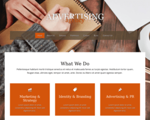 Adverteerder WordPress Thema