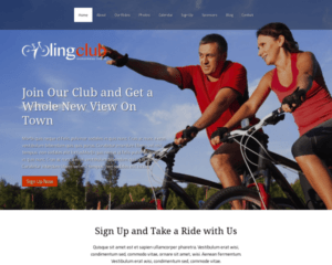 Fietsvereniging WordPress Thema