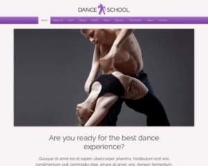 Dansschool WordPress Thema