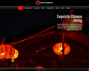 Chinees restaurant WordPress Thema