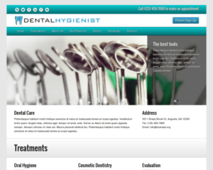 Mondhygienist WordPress Thema