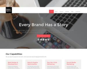 Digitaal agentschap WordPress Thema