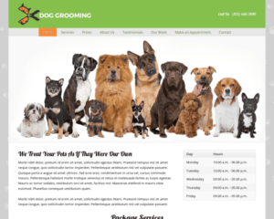 Honden trimsalon WordPress Thema