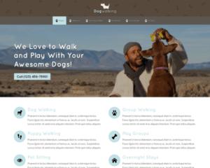 Honden uitlaatservice WordPress Thema
