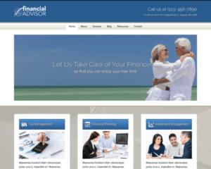 Financieel adviseur WordPress Thema