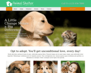Dierenasiel WordPress Thema