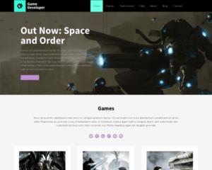 Game ontwikkelaar WordPress Thema