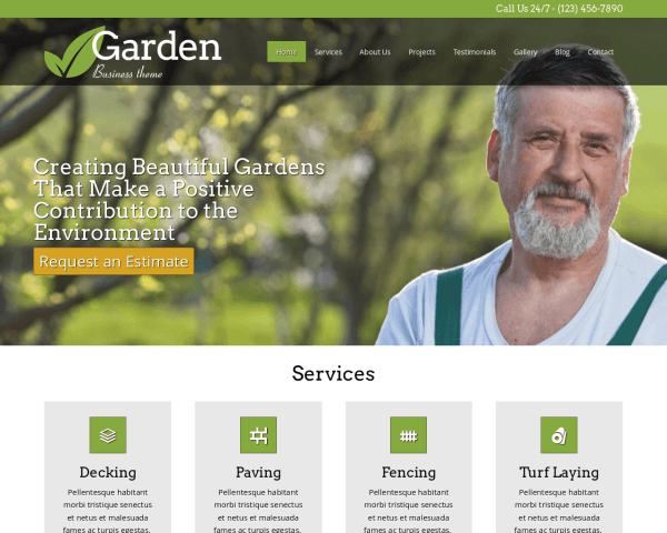 Tuinier WordPress Thema