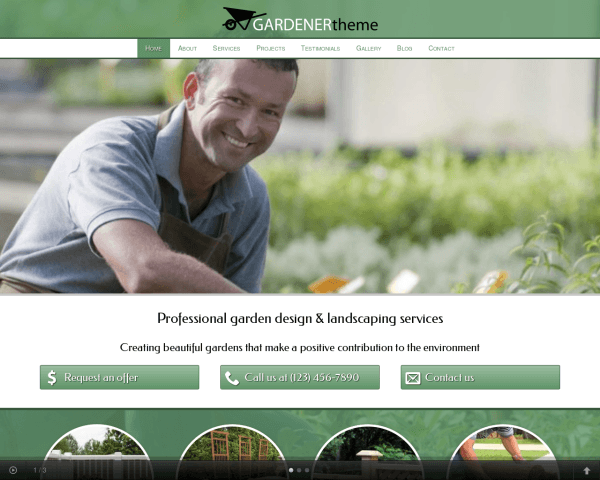 Tuinman WordPress Thema