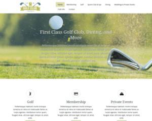 Golf club WordPress Thema
