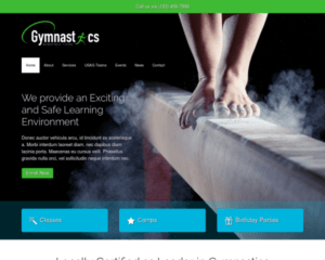 Gymnastiek WordPress Thema