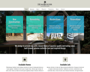 Huizen bouwer WordPress Thema