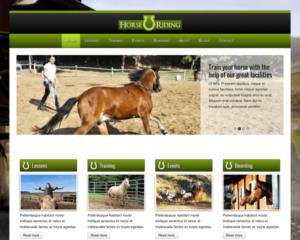 Paardrijden WordPress Thema