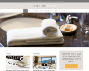 Interieur ontwerp WordPress Thema