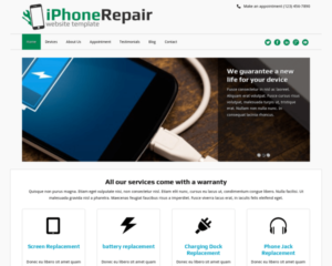 Iphone reparatie WordPress Thema