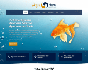 Aquarium WordPress Thema