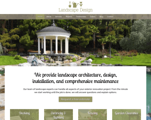 Tuinarchitectuur WordPress Thema