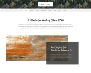 Kunstgalerij WordPress Thema