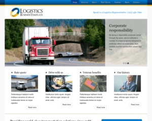 Logistiek WordPress Thema