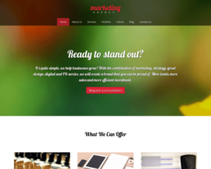 Marketingbureau WordPress Thema