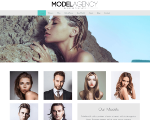 Modellenbureau WordPress Thema