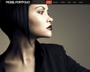 Modellen portfolio WordPress Thema