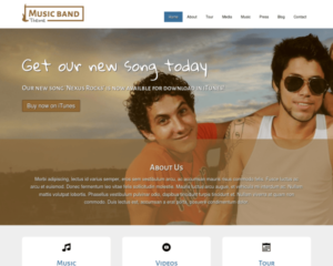 Muziekband WordPress Thema