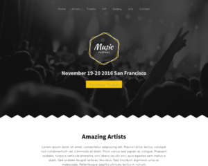 Muziekfestival WordPress Thema