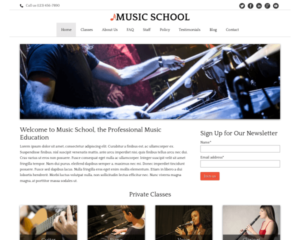 Muziekschool WordPress Thema