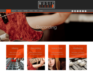 Muziekstudio WordPress Thema