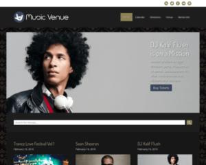 Muziek locatie WordPress Thema