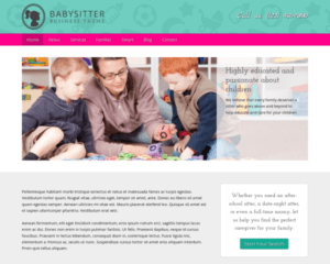 Babysitter WordPress Thema