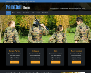 Paintball WordPress Thema