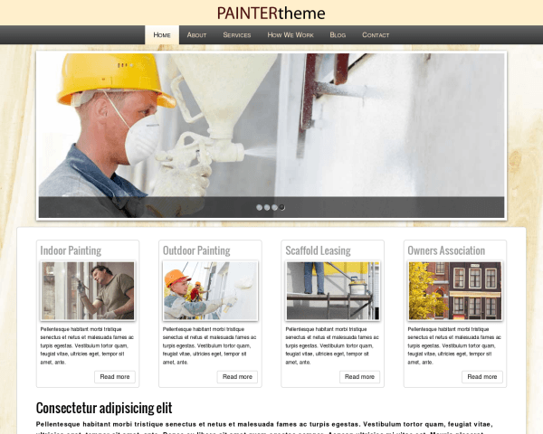 Schilder WordPress Thema