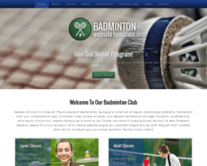 Badminton WordPress Thema