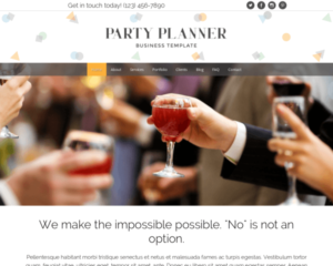 Partyplanner WordPress Thema