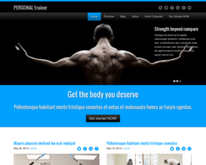 Personal trainer WordPress Thema