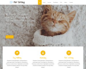 Dieren oppas WordPress Thema