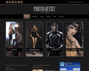 Foto kunstenaar WordPress Thema