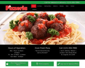 Pizzeria WordPress Thema