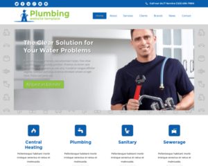 Loodgieter sanitair WordPress Thema
