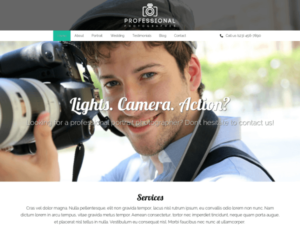 Professionele fotograaf WordPress Thema