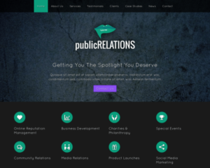 Public relations WordPress Thema
