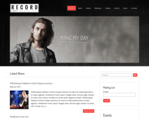 Platenlabel WordPress Thema