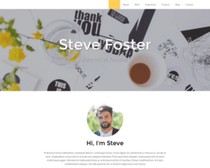 CV WordPress Thema