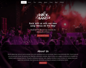 Rock band WordPress Thema